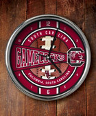 South Carolina Gamecocks Chrome Clock
