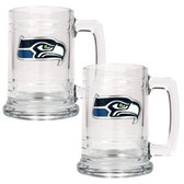 Seattle Seahawks 2pc Glass Tankard Set
