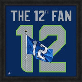 "Seattle Seahawks 12th Fan UNIFRAME 20"" x 20"" Framed photographic representation of the team's jersey 20X20 Framed Uniframe Jersey Photo"