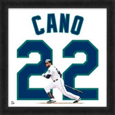 Seattle Mariners Robinson Cano 20x20 Framed Uniframe Jersey Photo