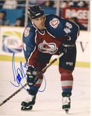 Scott Young Colorado Avalanche Signed 8x10 Photo