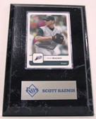 Scott Kazmir  Tampa Bay Rays Card Plaque