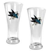 San Jose Sharks Oval Pilsner Glass Set