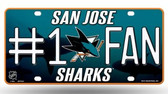 San Jose Sharks License Plate  - #1 FAN
