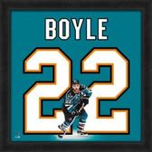 San Jose Sharks Dan Boyle 20X20 Framed Uniframe Jersey Photo