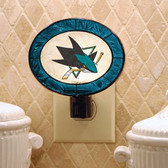 San Jose Sharks Art Glass Nightlight