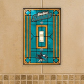 San Jose Sharks Art Glass Switch Cover