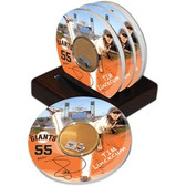 San Francisco Giants Tim Lincecum Game Used Dirt Coasters (set of 4)