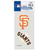 San Francisco Giants Set of 2 Die Cut Decals