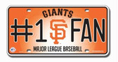 San Francisco Giants License Plate - #1 Fan