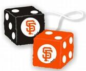 San Francisco Giants Fuzzy Dice
