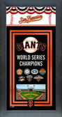 San Francisco Giants 2012 World Series Champions Framed Championship Banner