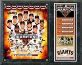 San Francisco Giants 2012 World Series Champions Composite Plaque