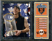San Francisco Giants 2010 Tim Lincecum 2010 World Series Champions Trophy Plaque