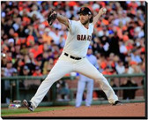 San Francisco Giants 16x20 Stretched Canvas Madison Bumgarner Game 5 of the 2014 World Series Action