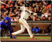 San Francisco Giants 16x20 Stretched Canvas Joe Panik Game 4 of the 2014 World Series Action