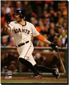 San Francisco Giants 16x20 Stretched Canvas Hunter Pence Game 4 of the 2014 World Series Action