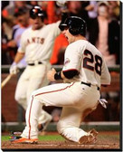 San Francisco Giants 16x20 Stretched Canvas Buster Posey Game 4 of the 2014 World Series Action AARJ049-237