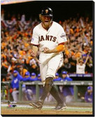 San Francisco Giants 16x20 Stretched Canvas Hunter Pence Game 5 of the 2014 World Series Action