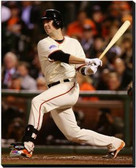 San Francisco Giants 16x20 Stretched Canvas Buster Posey Game 4 of the 2014 World Series Action