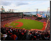 San Francisco Giants 16x20 Stretched Canvas AT&T Park Game 3 of the 2014 World Series