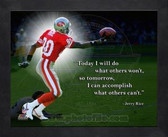 San Francisco 49ers Jerry Rice 11x14 Framed Pro Quote Photo