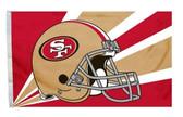San Francisco 49ers 3'x5' Helmet Design Flag