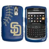 San Diego Padres Cashmere Silicone Blackberry Curve Case