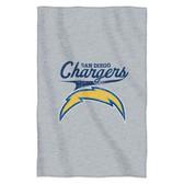 "San Diego Chargers 54""x84""Sweatshirt Blanket - Script Design"