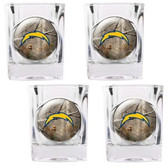 San Diego Chargers 4pc Square Shot Glass Set