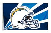 San Diego Chargers 3'x5' Helmet Design Flag