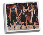 "San Antonio Spurs Tony Parker ""Big Three High Five""  Stretched 32x40 Canvas"