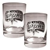 San Antonio Spurs Rocks Glass Set