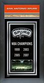 San Antonio Spurs Framed Championship Banner