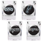 San Antonio Spurs 4pc Square Shot Glass Set
