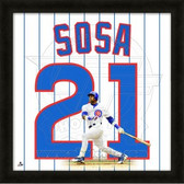 Sammy Sosa Chicago Cubs 20x20 Framed Uniframe Jersey Photo