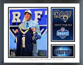 Sam Bradford St. Louis Rams 2010 # 1 Draft Pick Milestones & Memories Framed Photo