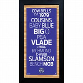 Sacramento Kings Subway Sign 6x12 Framed Photo