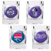 Sacramento Kings 4pc Square Shot Glass Set