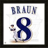 Ryan Braun Milwaukee Brewers 20x20 Framed Uniframe Jersey Photo