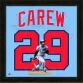 Rod Carew Minnesota Twins 20x20 Framed Uniframe Jersey Photo