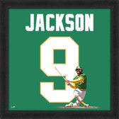 Reggie Jackson Oakland Athletics 20x20 Framed Uniframe Jersey Photo