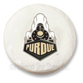 Purdue Boilermakers White Tire Cover, Large