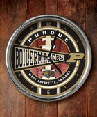 Purdue Boilermakers Chrome Clock