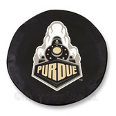 Purdue Boilermakers Black Tire Cover, Large