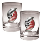 Portland Trailblazers Rocks Glass Set