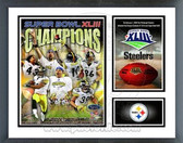 Pittsburgh Steelers Super Bowl XLIII Champions Milestones & Memories Framed Photo