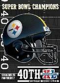 Pittsburgh Steelers Super Bowl XL Champions 48x60 Blanket