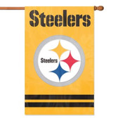 Pittsburgh Steelers 2 Sided Banner Flag