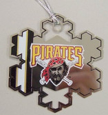 Pittsburgh Pirates Snowflake Christmas Ornament